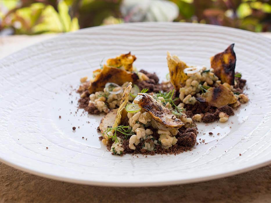 escamol disajikan sebagai makanan mahal di restaurant