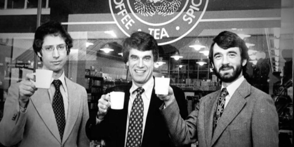 Pendiri Starbucks, Dari kiri Zev Siegl, Jerry Baldwin dan Gordon Bowker