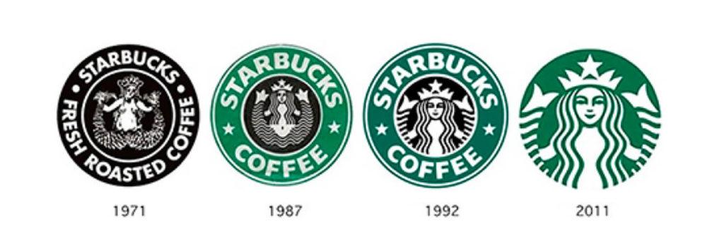 Perubahan logo starbucks dari tahun ke tahun